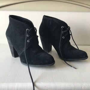 BCBGeneration Shoes - BCBG Generation black suede tie up booties